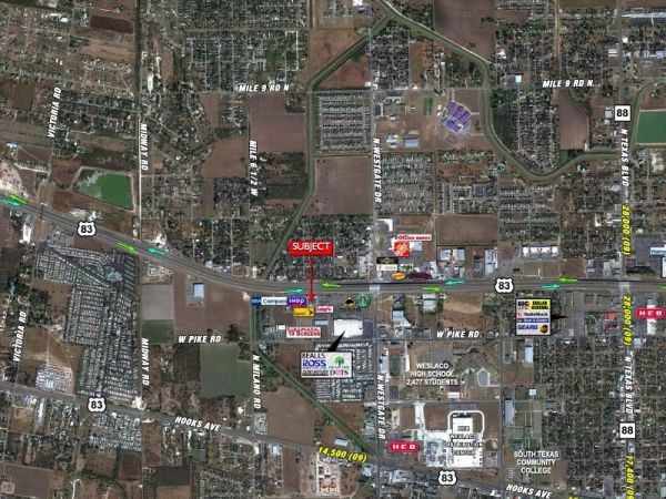 $11 6360ftsup2 - Former Hollywood Video For LeaseWill Subdivide (Weslaco, Texas)