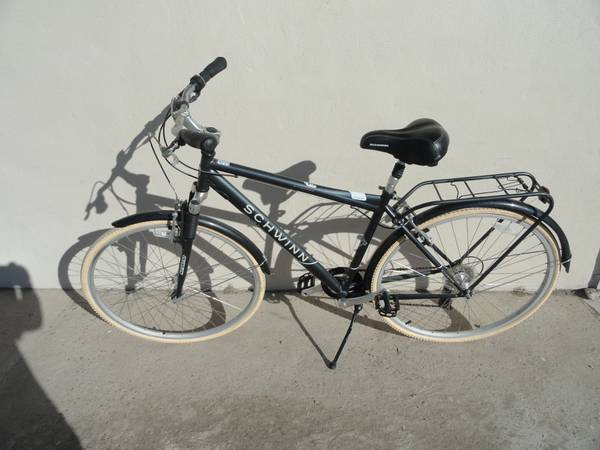 Schwinn City 6 Errand Communter Bike with Rack (Free Bike Light) - x0024150 (Mcallen)
