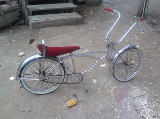CHROME TWISTED LOWRIDER BIKE - $250 (Elsa tx)
