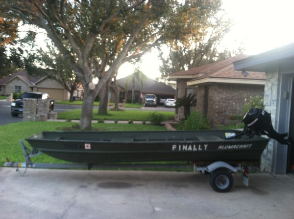 14 foot Alumacraft Jon Boat - $2350 (Mcallen Texas)