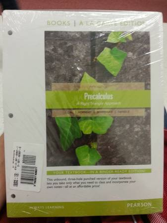 PRECALCULUS BOOK FOR STC AND MYMATHLAB NEED TO SELL ASAP (Edinburg)