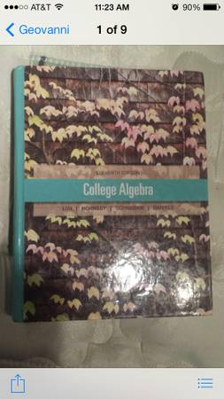 Stc college algebra book -   x0024 35  edinburg tx