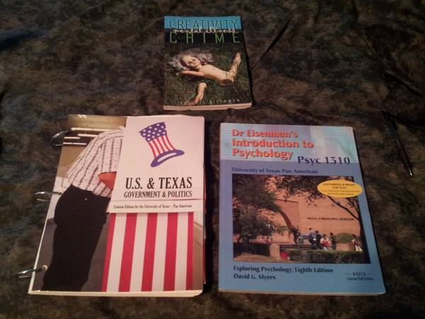 UTPA Books History,CIS,Psycology - $40 (weslaco)