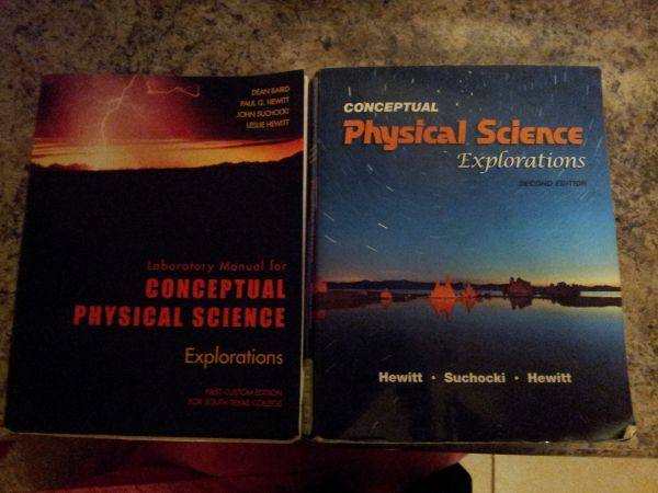 Conceptual Physical Science Explorations Second Edition Book - $80