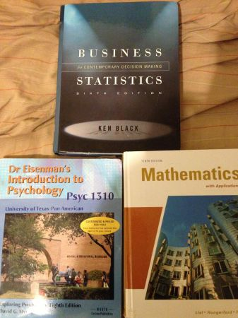 UTPA psyc 1310 business math and statistics  (Edinburg )