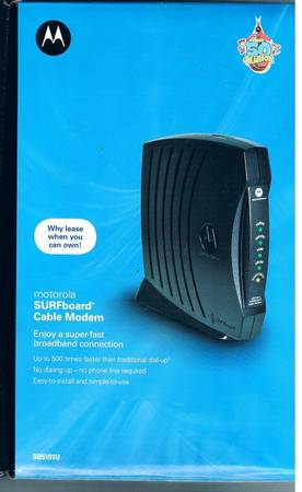 NEW Motorola SURFboard SB5101U Cable Modem FREE Shipping NICE Why Leas - $75 (McAllen)