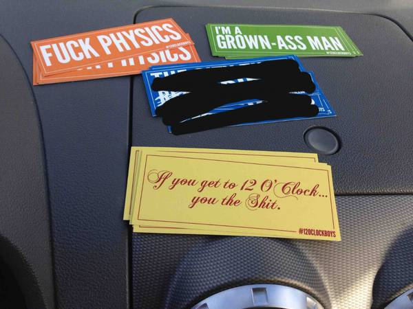 Free Stickers from the Movie 12 Oclock Boys. (Donna, TX)