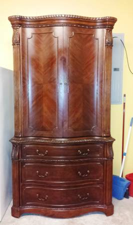 Beautiful Tv entertainment center 2 Door Armoire (from lacks) - x0024400 (Mcallen)