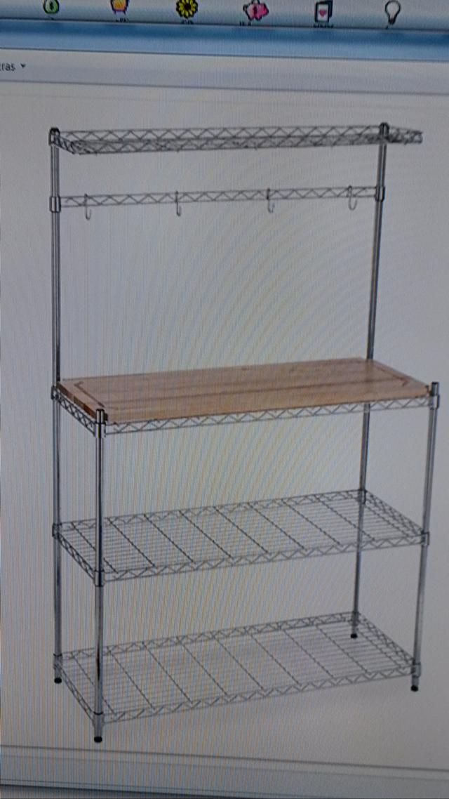 60  Like New Bakers Rack with Cutting board