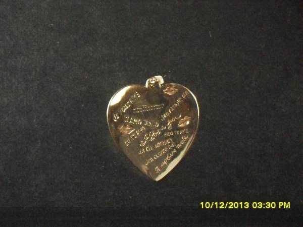 14K GOLD HEART -   x0024 499  EDINBURG  Tx