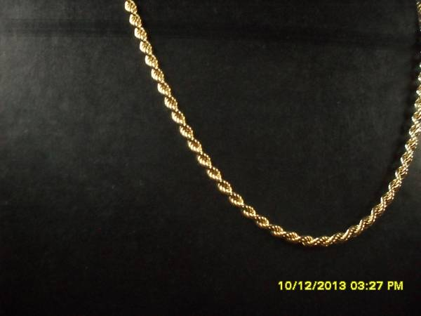Braided Gold Rope 26 inch -   x0024 68  edinburg tx