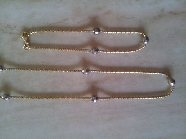 W Y gold Necklace and Bracelet 10k -   x0024 180  McAllen