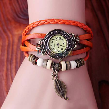 Leather Bracelet fashion quartz -   x0024 8  mallen pharr
