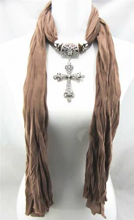 fashion cross pendant necklace scarf  -   x0024 5  mcallen