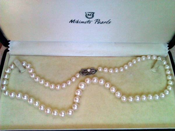 ________________________________MIKIMOTO PEARLS NECKLACE -   x0024 5000  Mission
