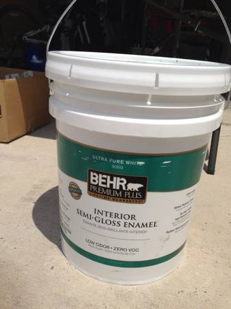 5-gallon Behr paint