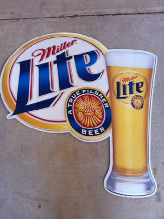 MILLER LITE TIN BEER SIGN - $40 (Mission )