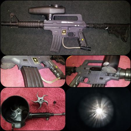 Tippman Alpha Black with E-trigger and Cyclone Feed - $200 (Mission)