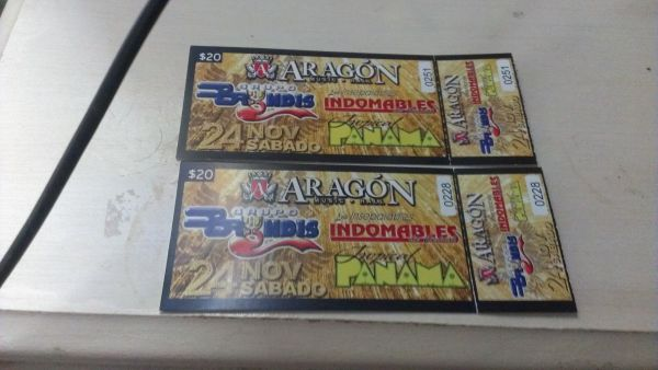 ticket para Aragon grupo bryndis tropical panama i indomables - $30 (mission)