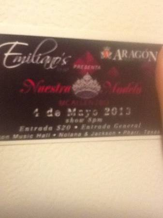 Nuestra modelo Mcallen at Aragon music hall - $20 (sharyland)