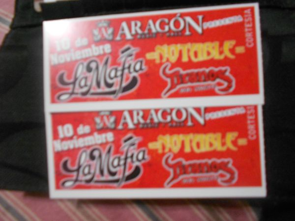 Selling 2 tickets for tomorrow at ARAGON music hall... La mafia, Notab - $45 (mcallen)