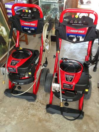 (2) new prfessional pressure washer troy bilt 2700 psi - $199 (san juan)