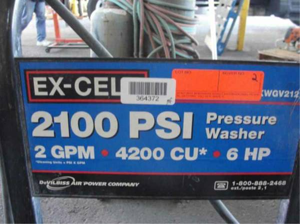 EX CELL 2100 PSI GASOLINE PRESSURE WASHER - $100 (PSJA)