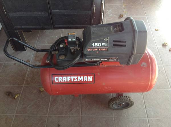 Craftsman 33 Gallon 150 PSI Air Compressor Used - x0024250
