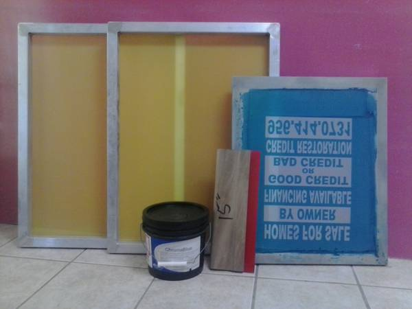 screen printing material - $80 (pharr)