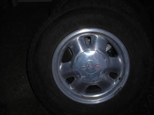 4 sale rims w tires size 16 6 holes for chevy pickup - x0024225 (edinburg tx)