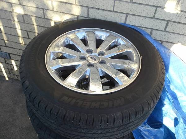 FORD 5 LUG 18 RIMS TIRES - ALL 4 (MCALLEN)