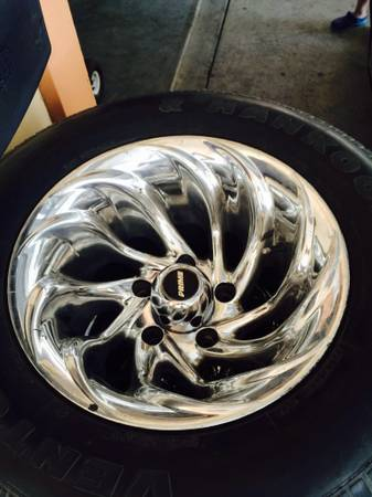15x10 rims and tires for 5 lug ford - x0024400 (Palmview)