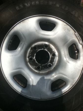 2008 STOCK RIMS N TIRES FORD F150 - $100 (ALAMO)