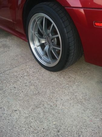 mustang fr500s 18s deep dish with tires - $750 (weslaco)