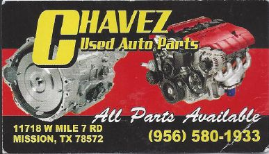 CHAVEZ USED AUTO PARTS 956 580-1933 (MISSION)