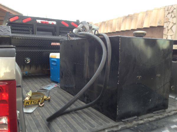 100 GALLON FUEL TANK WITH PUMP - $590 (RIO GRANDE CITY)