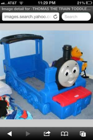 Thomas the train toddler bed frame - $150 (Mission)