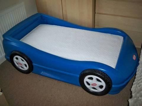 Blue Little Tikes Toddler Car Bed For Sale