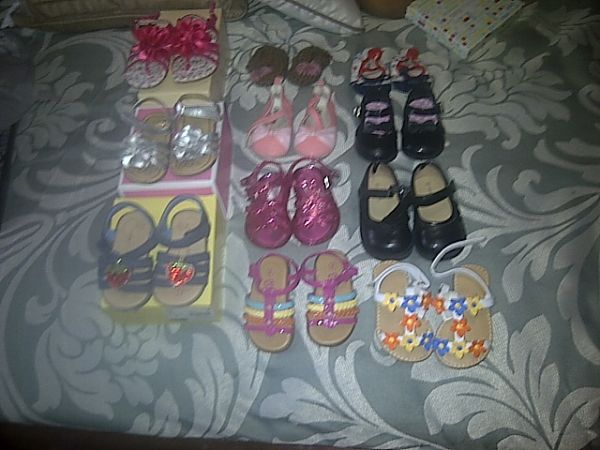 GIRL-Baby and Toddler shoes Sz 2, 3, 4, and 5 ((mission) )