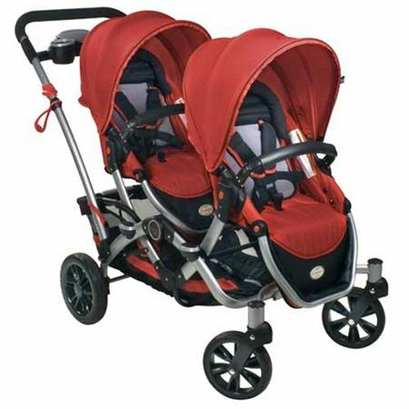 kolcraft contours double stroller ruby red - $170 (mission,texas)
