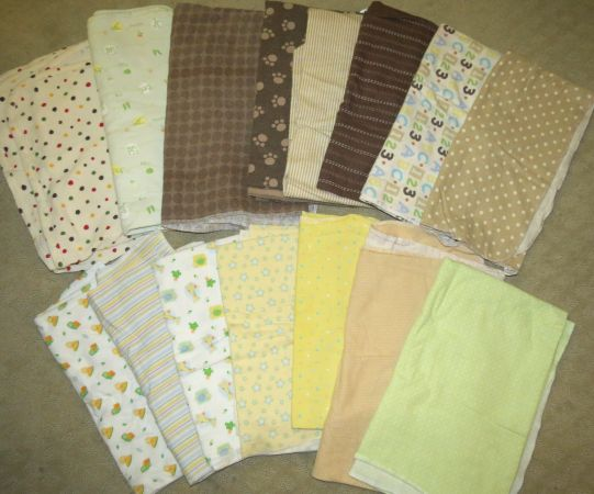 SET OF 15 BABY RECIEVING BLANKETS  - $12 (AUSTIN)