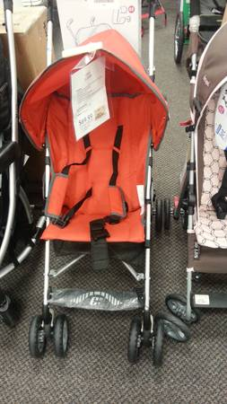 Chicco light weight orange stroller new - $50 (mission)