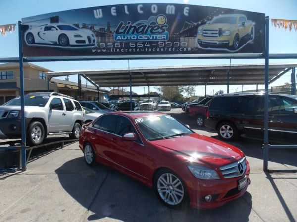 2009, Mercedes Benz, C300, Red 1 OWNER 61k Miles (LINARES AUTO CENTER MCALLEN 664 9990)