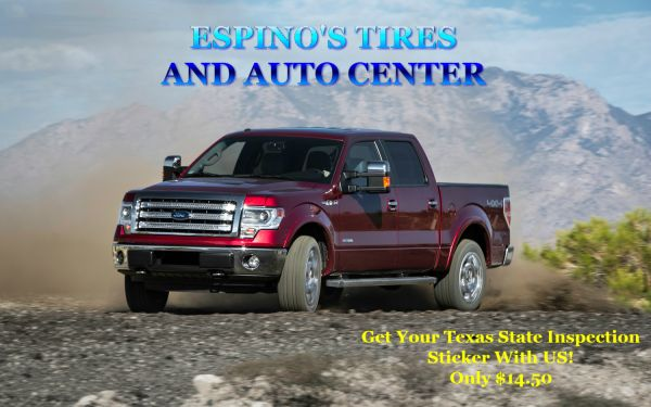 Get Your Texas State Inspection Sticker at Espinos Tires (pharr, tx)