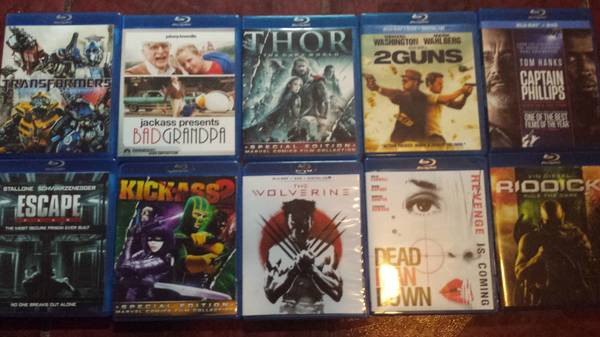 Movies HD Blu Ray Titles -   x0024 10  McAllen