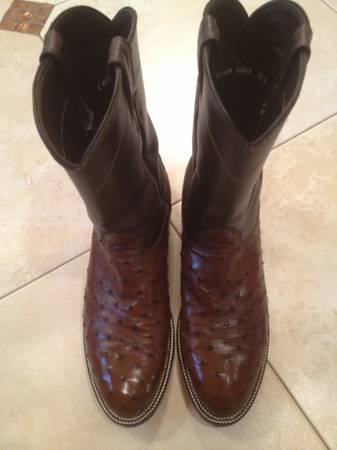 Ostrich Boots - $175 (Mission)