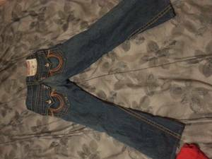 mens true religion and abercrombie jeans - $80