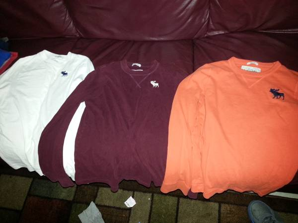 three Abercrombie long sleeve shirts  (mission)