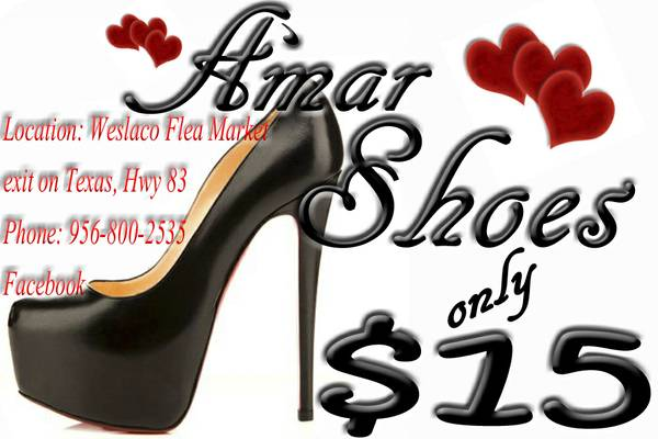 Amar Shoes.. only $15 (Weslaco)