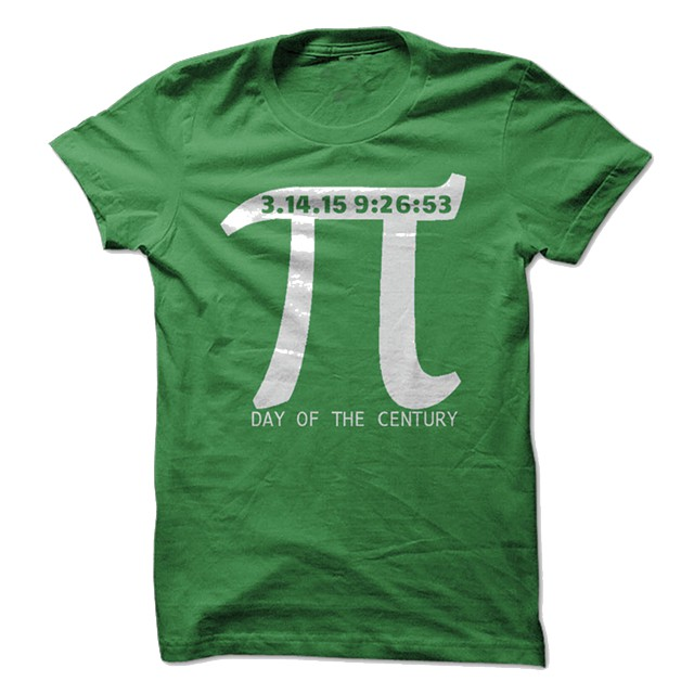 19  Pi Day T-Shirts 2015 - Limited Edition